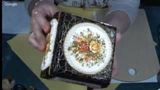 Использование меловых акриловых красок в декупаже  Имитация акварели  Юлия Валько