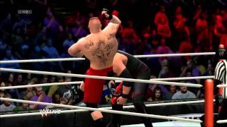 WWE 13 gameplay Brock Lesnar vs KANE