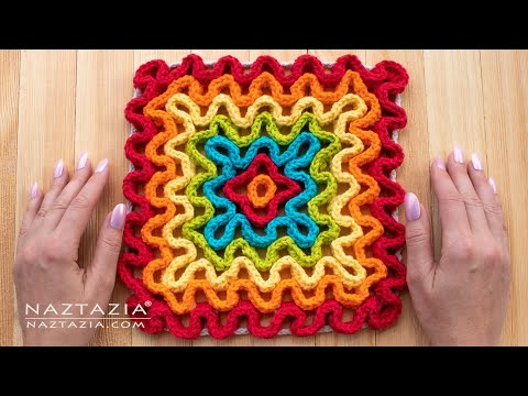 How To CROCHET WAVY PAD - Wiggly Crochet Tutorial