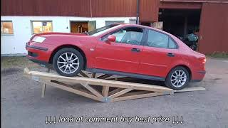 Car servise ramp homemade from wood part 3