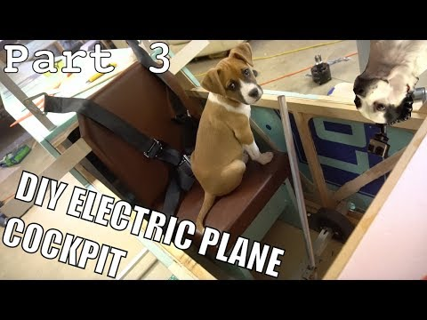 DIY Electric Ultralight airplane pt3 (cockpit and controls)