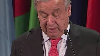 Intervenção de António Guterres sobre a importância dos Geoparks