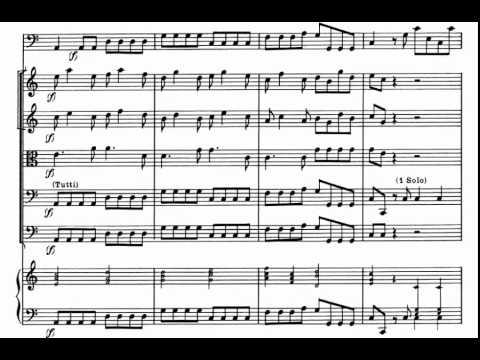 1.- Allegro. Cello Concerto in C Major (A. Vivaldi) Score Animation.