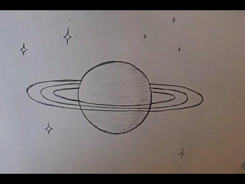 Учимся рисовать планету Сатурн
