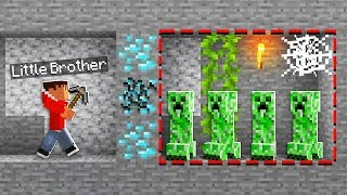 5 WAYS TO TROLL YOUR LITTLE BROTHER IN MINECRAFT