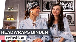 Fashion Tutorial: 5 stylische Looks mit Kopftüchern  ~ refashion | OTTO