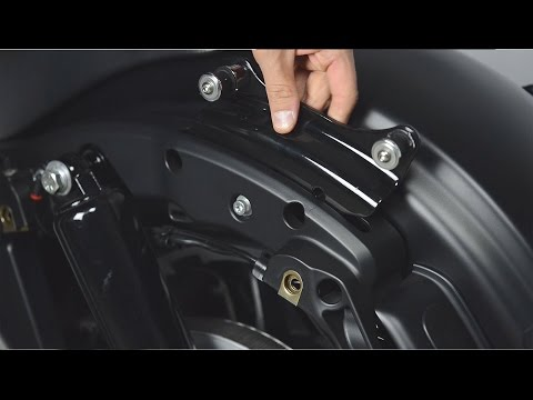 4-point Docking Hardware Kit w// Cover For Harley Touring /'14-/'19 Gloss Black