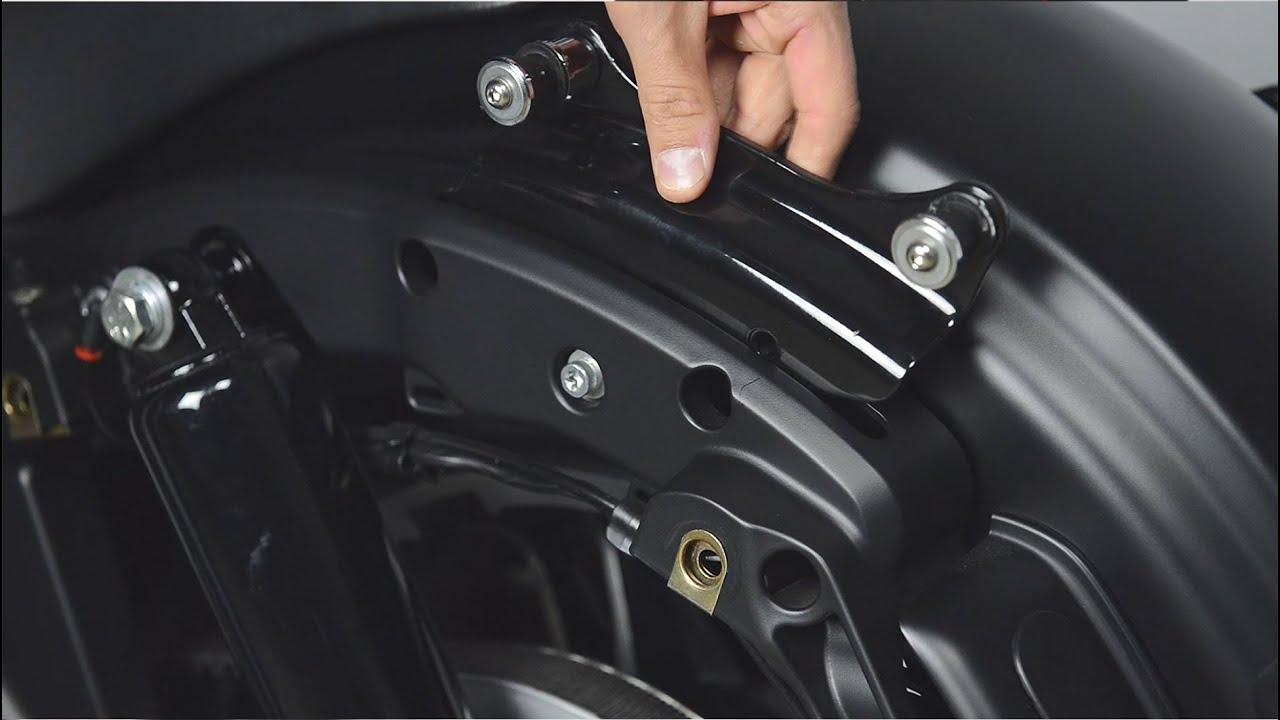 Black 4 Point Docking Hardware Kit For Harley Road King Street Glide 2014-UP