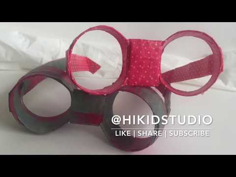 DIY Paper Roll Glasses - Paper Roll Crafts for kids
