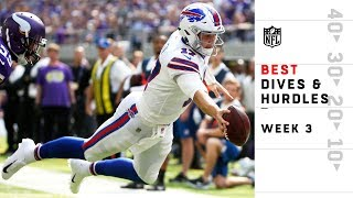 Best Dives & Hurdles from Sunday | NFL Week 3 Highlights