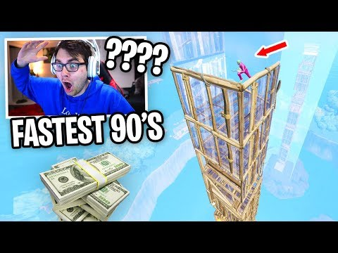 I Hosted a FASTEST 90's Contest for $100 in Fortnite (Pros vs Randoms)