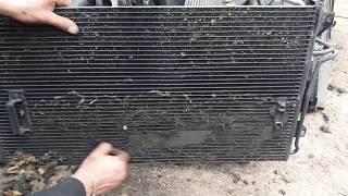 Порше забиты радиаторы,перегрев ремонт кондиционера!