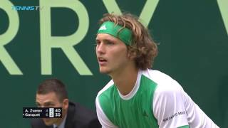 Federer and Zverev win to set up dream final | Halle 2017 Semi-Final Highlights