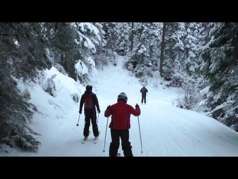 Skiing Borovets 2013 - The Beginners Part 1