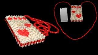 How to make beaded mobile bag/ beaded mobile cover/ পুতির মোবাইল ব্যাগ