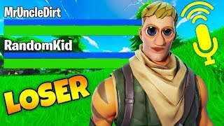 Kid bullied me in Fortnite... THEN ASKED TO JOIN ME NEXT GAME! (Fortnite MrUncleDirt)