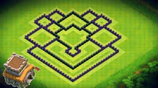 Diseño de aldea de Ayuntamiento 8 | Th8 | Subida de copas | Aldea Híbrida | Clash Of Clans