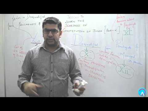 Tricks to Learn the Schedules of Constitution of India (Part 2)