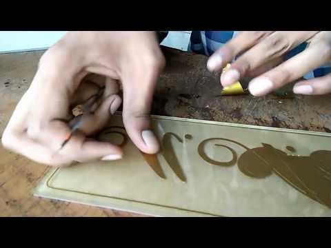 How to make Radium name plate