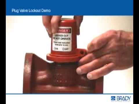 Brady's Plug Valve Lockout Installation Demo