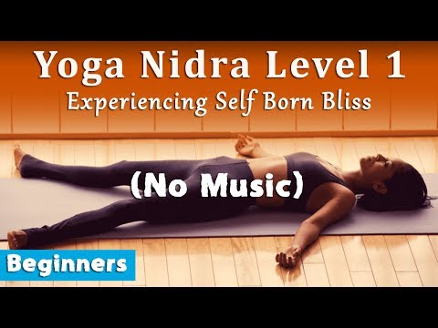 Yoga Nidra Level 1 (No Music): Experiencing Self Born Bliss (Beginners)