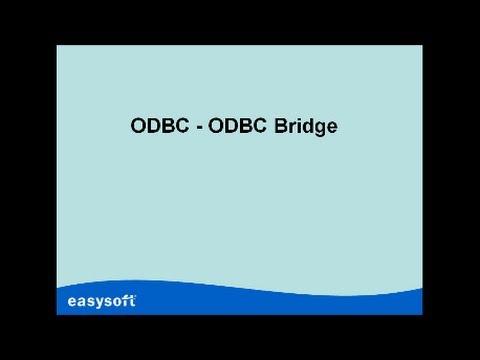 ODBC BRIDGE DRIVERS FOR WINDOWS XP