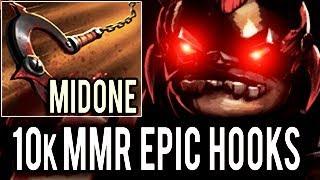 MidOne 10k MMR Pudge Impossible Hooks Dota 2