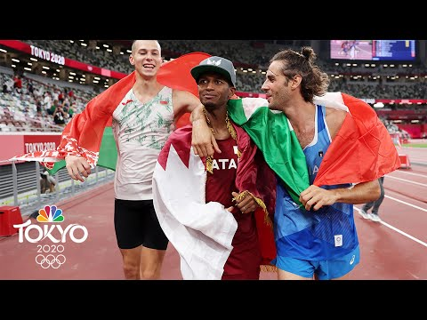 Top high jumpers decide to SHARE gold in instant-classic final   Tokyo Olympics   NBC Sports