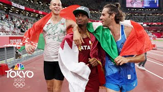 Top high jumpers decide to SHARE gold in instant-classic final | Tokyo Olympics | NBC Sports
