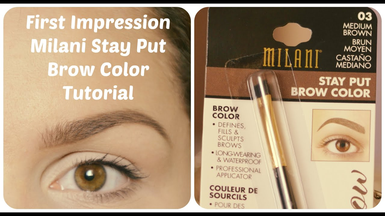 Oboie S Milani Stay Put Brow Color First Impression Youtube