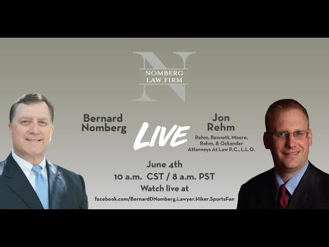 NOMBERG LAW LIVE: Jon Rehm, Nebraska attorney, discussing dealing with clients and social media.