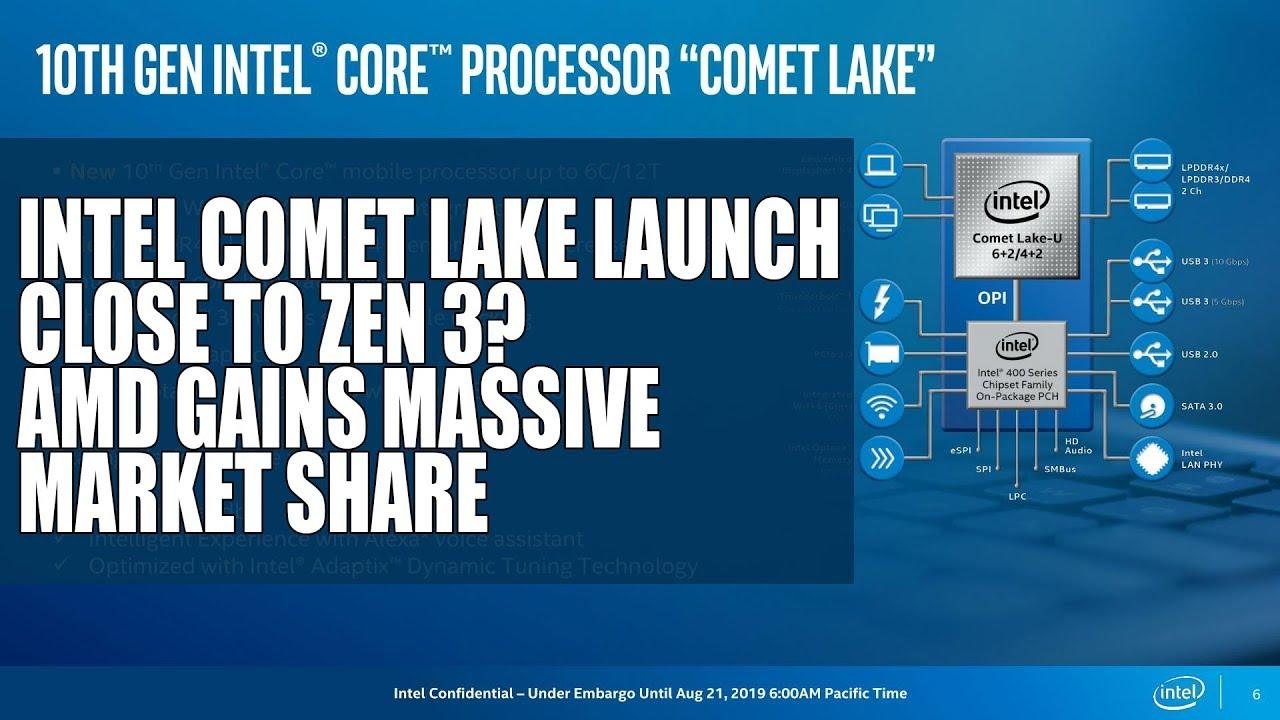 Intel Comet Lake Launch Date Close to Zen 3? | AMD Gains Massive Market  Share