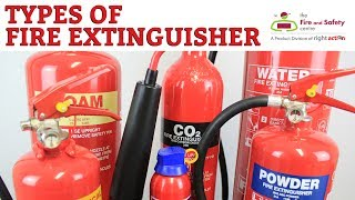 Types of Fire Extinguisher and their uses.