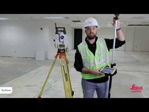 How To Station Your Robotic Total Station Leica ICON ICR70