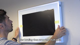How to install Canvia Smart Art Canvas Screen on a Wall with AC Outlet