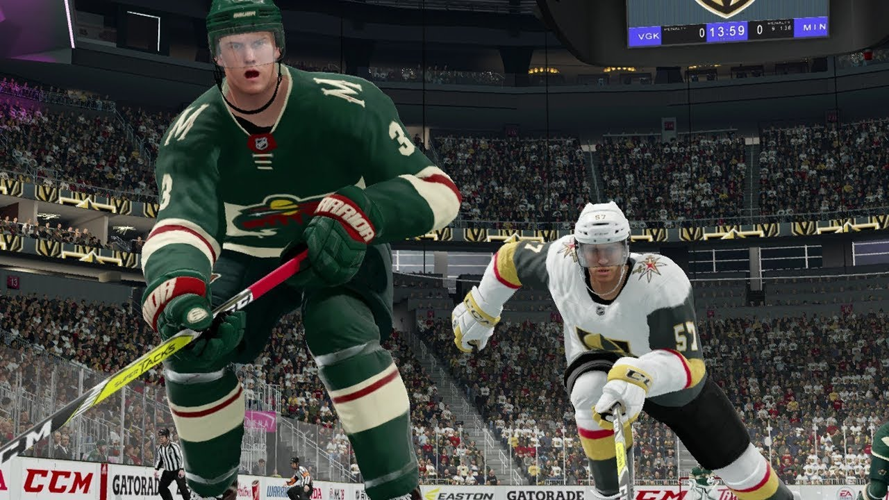 NHL 18 Vegas Golden Knights vs Minnesota Wild Gameplay (Full Game)