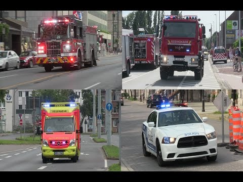 Fire trucks, ambulances, police cars responding code 3 - BEST OF 2015