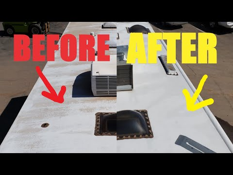 Cleaning a Very Dirty RV Rubber Roof Membrane