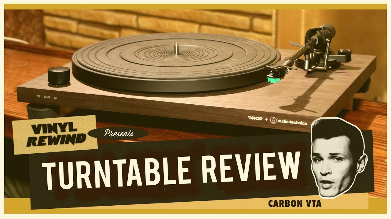 Entry level turntable review - The Drop + Audio Technica Carbon VTA | Vinyl Rewind