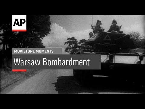 Look Back to Warsaw Bombardment - 1943 | Movietone Moment | 19 Jan 18