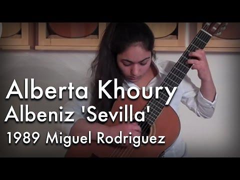 Albeniz 'Sevilla' played by Alberta Khoury