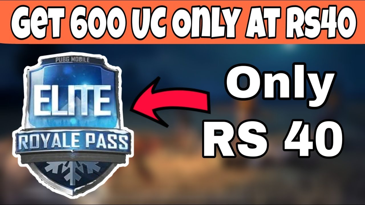 Get Elite Royal Pass only at Rs40 | Pubg Mobile | Limited Offer