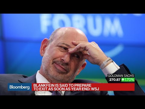 Goldman's Blankfein to Step Down as Soon as Year-End: WSJ