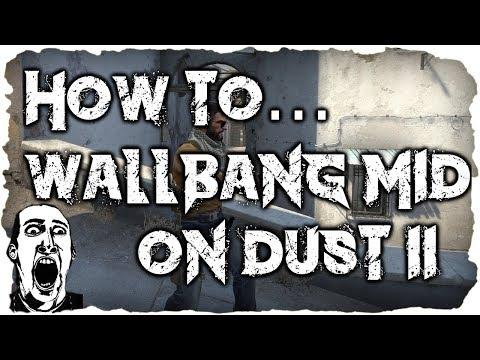 CS:GO   How to... wallbang a T Sniper in mid new de_dust2 (de_dust2 2017)