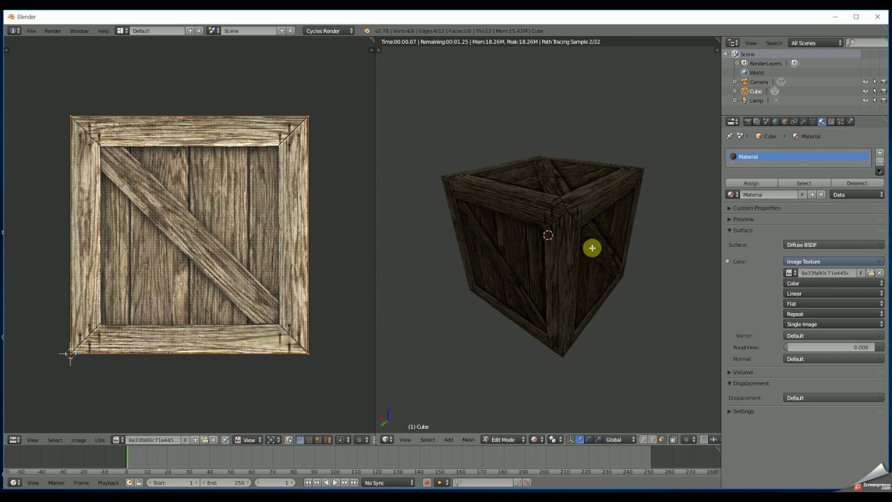 how to add wood texture in blender