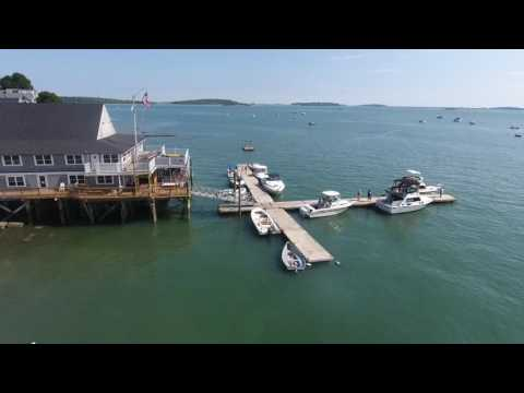 Drone Video of Quincy Yacht Club, Houghs Neck, Quincy, MA
