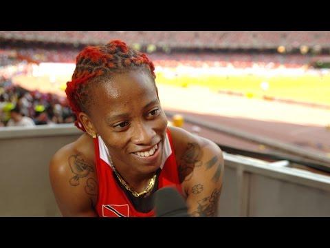 WHC 2015 Beijing - Michelle Lee Ahye TTO 100m Heat 3