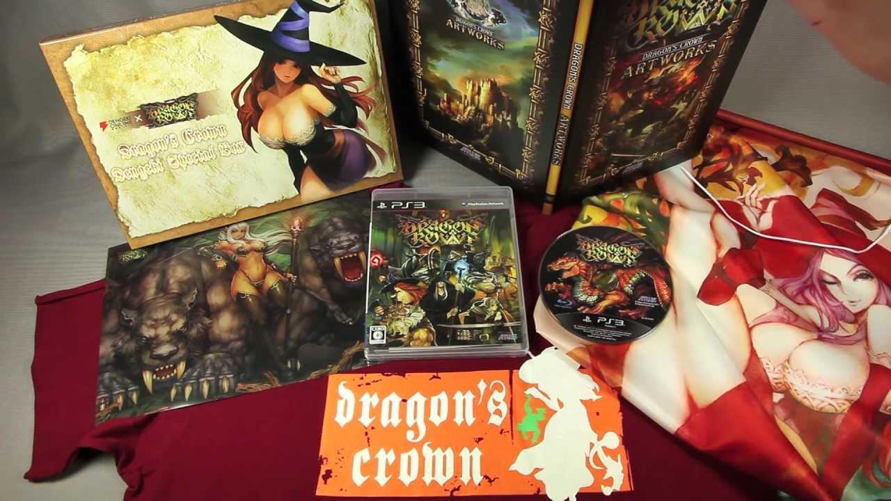Ps vita dragon's crown game unboxing + dragon's crown artbook.