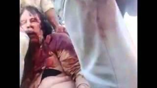 Las imágenes de la muerte de Gadafi - The images of the death of Qaddafi 20/10/2011