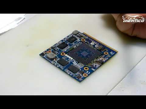 Ремонт видеокарты ноутбука Acer 7520 - Замена видеочипа
